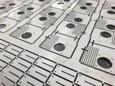 CNC punched aluminium panels produced in sets on a Trumpf 3000 punch press Aluminum Sheet Metal, Sheet Metal Work, Aluminium Sheet, Metal Panels, Metal Working, Cnc, Sheet Metal Shop, Metalworking