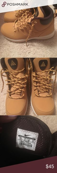 Wheat Nike ACG Boots Worn Twice, great for winter!! Nike ACG Shoes Winter & Rain Boots