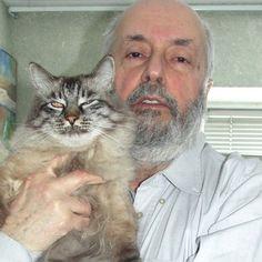 Валентин  Иоппе  и  его  Бося.  Artist and His Cat - Art by Valentine Ioppe