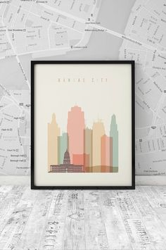 Kansa City Cityscape Printable by ArtFilesVicky
