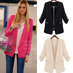 Find More Blazers Information about New 2014 Fashion Spring Women Medium Long Slim Waist Long Sleeve Lady Outerwear Female Suit Leisure Blazer Coat in Stock,High Quality Blazers from meilishuo on Aliexpress.com