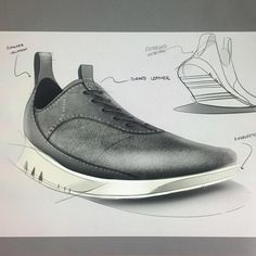 I really enjoy the curved shape of this shoe, it has such a simple and modern look to it.