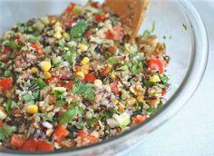 Confetti Quinoa and Wild Rice Salad with Cilantro (or Parsley)