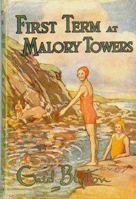 """Read """"First Term at Malory Towers"""" by Enid Blyton available from Rakuten Kobo. Darrell Rivers' first glance at Malory Towers, the boarding school in Cornwall standing on the cliff, with the sea behin. Vintage Book Covers, Vintage Children's Books, Enid Blyton Books, St Clare's, Hockey Sticks, Book Cover Art, Book Art, Children's Book Illustration, Book Illustrations"""