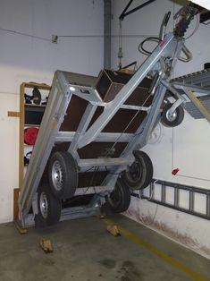 Trailer storage Garage Tool Storage, Trailer Storage, Garage Tools, Garage Workshop, Garage Organization, Cargo Trailer Camper, Cargo Trailers, Utility Trailer, Electrician Wiring