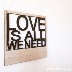 LARGE LOVE IS ALL... POLAROID PLAQUE