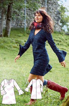 Bell Sleeve Dress Dec 2016 #112 http://www.burdastyle.com/pattern_store/patterns/bell-sleeve-dress-122016