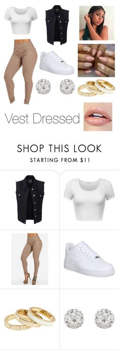 """Vest Dressed"" by ceciliawilliams ❤ liked on Polyvore featuring LE3NO, NIKE, Reiss and Accessorize"