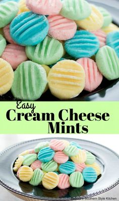 Easy Cream Cheese Mints - Recipes to try - Desserts Mint Recipes, Sweet Recipes, Tea Recipes, Recipies, Christmas Desserts, Christmas Treats, No Bake Christmas Cookies, Christmas Crack, Christmas Goodies