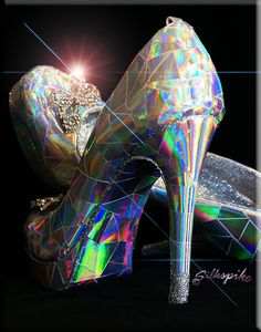 Silkspike Dolls - Making Cinderella's glass slippers for a stage prop - inspired by a You Tube video by Mark Montano..