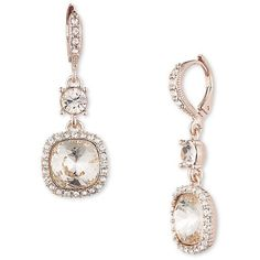 Givenchy Double Crystal Earrings ($48) ❤ liked on Polyvore