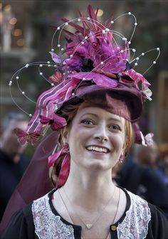 Photograph Easter Parade NYC 2012 Butterfly Hat by Robert Ullmann on 500px