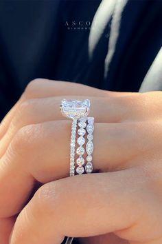 Radiant Engagement Rings, Dream Engagement Rings, Engagement Ring Cuts, Diamond Wedding Rings, Thin Diamond Band, Most Beautiful Engagement Rings, Round Solitaire Engagement Ring, Round Diamond Engagement Rings, Wedding Band Sets