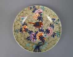 """A 19th century Spode dish in the """"Tumble Down Dick"""" pattern. CIRCA: 1830 DIMENSIONS: 8"""" d PRICE: $400"""