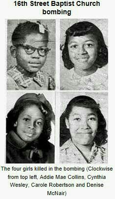 4 little Black girls killed in Birmingham church bombing