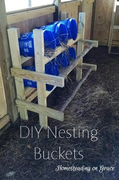 A quick build for your chickens nesting box needs. Easy to clean, put together, and only about $35. And the chickens love it!