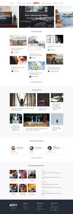 The Mighty website by Valeria Rimkevich | dribbble