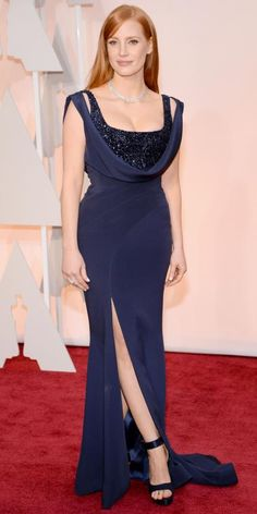 Academy Awards 2015 Red Carpet Arrivals - Jessica Chastain from #InStyle
