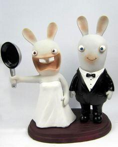 raving rabbids wedding cake topper  $159