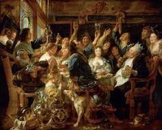 Jacob Jordaens - The Feast of the Bean King (1640 - 1645)
