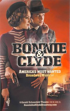 BONNIE & CLYDE BROADWAY WINDOW CARD - LAURA OSNES