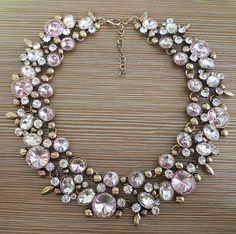 2016 nouveau Z Collares rose strass cristal collier mode féminine bijoux déclaration Choker collier Bib colliers dans Colliers de chaînes de Bijoux sur AliExpress.com   Alibaba Group