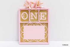 Baby first year Memory tray Gold and pink birthday by Craftytude
