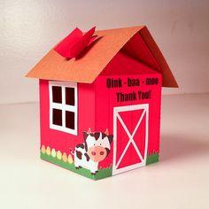 Barn Farm Favor Boxes / Treat boxes Set of 4 by FestivaPartyDesign, $15.00