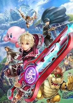 Promotional art for Shulk for Super Smash Bros. for Nintendo 3DS / Wii U.