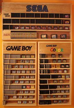 Game Boy & GBC Shelves -yeah something like that! #retro #game #storage