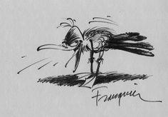 La mouette par André Franquin - Dédicace