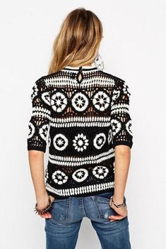 Cardigan Au Crochet, Crochet Beanie, Crochet Cardigan, Pull Crochet, Knit Crochet, Summer Knitting, Hand Knitting, Cardigan Noir, Bonnet Crochet