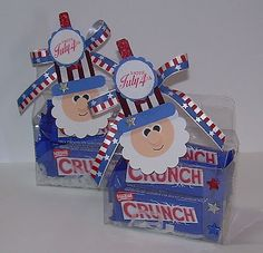 Fourth Of July Food, 4th Of July Fireworks, 4th Of July Party, July 4th, Patriotic Crafts, July Crafts, Holiday Crafts, Patriotic Party, Gable Boxes