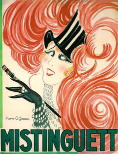 Vintage Mistinguett Giclee Print Charles Gesmar
