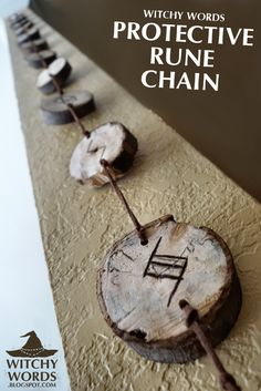 Witchy Words: Protective Rune Chain (House Cleansing Part 1) I like this! Have to create one soon!