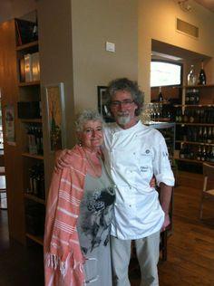 Paola Meneghetti con lo chef Vittorio Fusari presso Dispensa Pani e Vini.