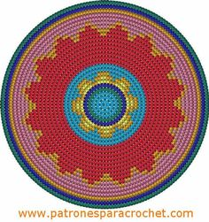 Oilily-look-Like Zomertas – Maak het hip Crochet Table Runner Pattern, Tapestry Crochet Patterns, Crochet Motifs, Crochet Chart, Knitting Patterns, Free Crochet, Boho Tapestry, Tapestry Bag, Cross Stitch Pattern Maker