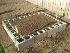 Cinder blocks instead of wood raised beds. Plus you could plant herbs or strawberries *in* the cinder blocks themselves! - Cinder blocks instead of wood raised beds. Plus you could plant herbs or. Garden Yard Ideas, Lawn And Garden, Garden Projects, Garden Landscaping, Big Garden, Landscaping Ideas, Raised Garden Beds, Raised Beds, My Secret Garden