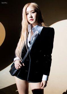 Photo album containing 17 pictures of Rosé Kim Jennie, Ysl, Blackpink Fashion, Fashion Show, Rose Icon, Kim Jisoo, Kpop Outfits, Korean Girl, Saint Laurent
