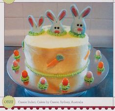 Bunny-tastic Easter cake idea from the book 1,000 Ideas for Decorating Cupcakes, Cookies & Cakes