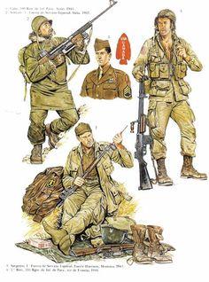 Amerikanske soldater klar til Normandiet