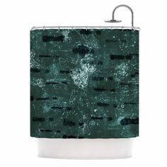"Iris Lehnhardt ""Tex Mix Jade"" Abstract Green Shower Curtain"