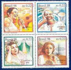 Mulheres nos selos/Mujeres en los sellos