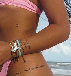Tiny Tattoos For Girls, Cute Tiny Tattoos, Dainty Tattoos, Little Tattoos, Pretty Tattoos, Mini Tattoos, Unique Tattoos, Small Tattoos, Hip Tattoo Small