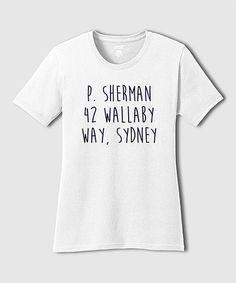 Look what I found on #zulily! White 'P. Sherman' Tee - Plus #zulilyfinds