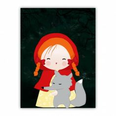 Little Red Cap Wood Print $40.00