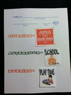A simple daily routine sheet using daily calendar cards. Help my kiddo who has autism.