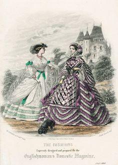 July fashions, 1860 England, Englishwoman's Domestic Magazine