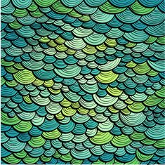 Abstract green marine background imitating fish scales — Stock ...