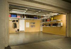small Garage Storage Solutions | Garage Flooring, Garage Storage Cabinets, Overhead Storage, Custom ...